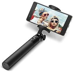 Bastone Selfie Bluetooth, BlitzWolf 3 in 1 Selfie Stick Mini Estensibile Monopiede con Micro Cavo USB 270 ° Rotazione per iPhone 7 7 plus 6s se 5s 5 Samsung s7 edge Huawei Android 3.5-6inch Smartphones(nero)