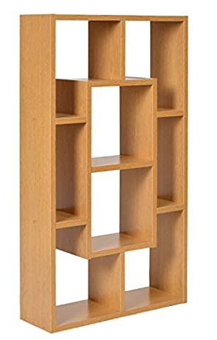 ts-ideen 11527 Wall shelf Shelving Storage Wood Natural colors Oak