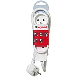 Legrand - LEG50052 - Rallonge Multiprises Standard - Blanc, 3 m