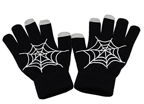 PromiseTrue Noctilucent Telefingers Gloves, Spider