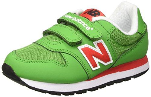 New Balance NBKV500GDP - Zapatillas de Material Sintético para hombre Verde Verde (Green Red) 30