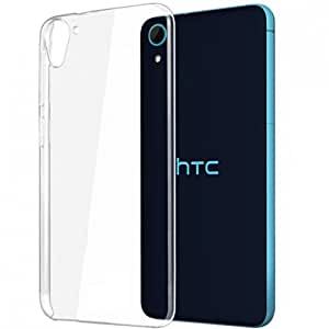 RKA Crystal Clear Transparent Hard Back Case Cover for HTC Desire 826