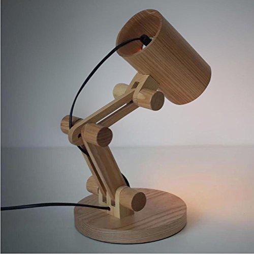 Kostüm Log (Europäische Massivholz Schreibtisch Lampe kreative Log Schreibtisch Lampe Schlafzimmer Nachttischlampe ,)