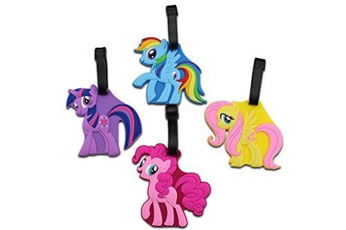 Finex-Set von 4-Silikon Reise Gepäck Tags Koffer Bag Tag mit verstellbarem Riemen (sortiert) Prime Color (My Little Pony) Einheitsgröße (My Little Pony-koffer)