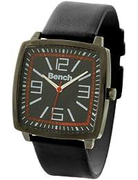 Bench BC0165BKBK - Reloj de caballero de cuarzo, correa de plástico color negro