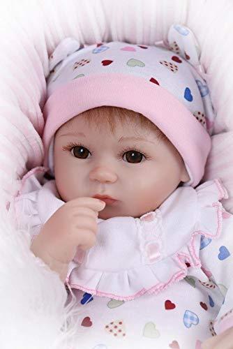 Gewichtete Puppe Handgemachte Weiche Silikon Vinyl Neugeborenen Puppen True Looking Lebensechte Wiedergeborenes Baby Puppe Frei Magnet Schnuller Dummy 17 \