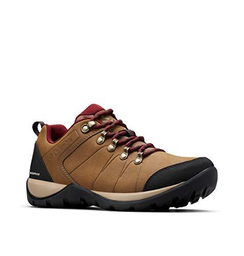 Columbia Fire Venture L II WP, Zapatos de Senderismo para Mujer, Marrón Dark Truffle, Red 206, 37...