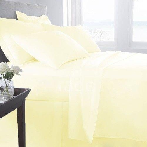 Sheets&More Heavy 550tc Tissu 1pièce Tour de lit --Jaune Clair Solide Euro Double IKEA 100% Coton égyptien Poche Profonde supplémentaire (26 :) Livraison Gratuite