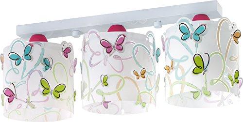 Dalber 62143 - Lámpara colgante, 3 luces, diseño mariposas