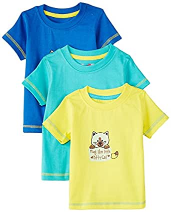 Day 2 Day Baby Girls' T-Shirt (263962105_Multi colored_03M)(Pack of 3)