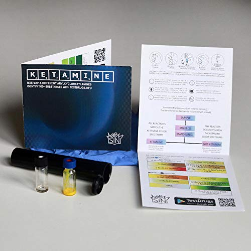 Ketamine Dual SIN Test Kit (Mecke + Mandelin Reagenz)