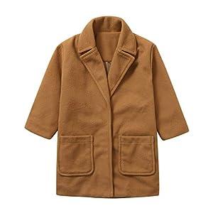 squarex ® Mädchen Langarmjacke Kleinkind Winter Einfarbiger Mantel Baby Winddichter Mantel Warme Oberbekleidung Langarmjacke Wollmantel