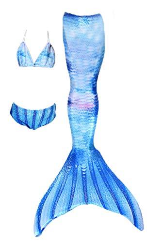 LCXYYY Mädchen Meerjungfrauen Tankini Bikini Set Schwimmanzug Badeanzüge Prinzessin Cosplay Kostüm Neckholder Meerjungfrauenschwanz für Schwimmen für Kinder Bademode - Neckholder Schwimmen Kostüm
