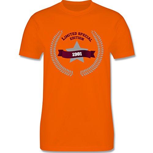 Geburtstag - 1981 Limited Special Edition - Herren Premium T-Shirt Orange