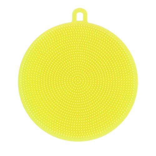 Prevently Reinigungsbürste Haushalt Küche Universal Scrubber Runde Silikonspülbürste Silikon...