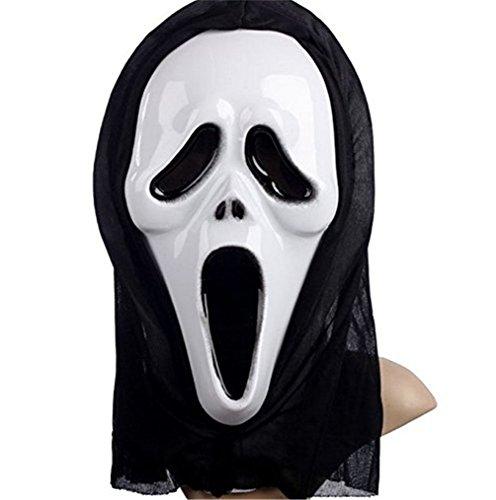 �del Skelett Geist Kleidung Screaming Ghost Maskerade Kostüm Cosplay Requisiten Set für Erwachsene Ghost Handschuhe Masken (Masken allein) (Schädel Make-up Für Halloween)