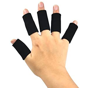 TRIXES 10x Finger Protector Sleeve, Arthritis Stretchy Support Sports Aid