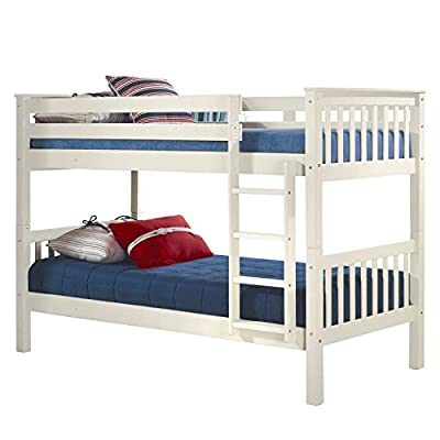 White Single Bunk Bed + Ladder Can Be Fixed To Either Side + FREE UK Delivery