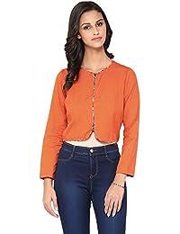 Akkriti by Pantaloons Women's Round Neck Jacket