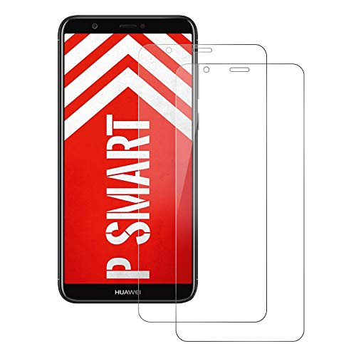 Senisttech Huawei P Smart 2018 Protector de Pantalla, [2 Pack] Cristal Templado Huawei P Smart, Dureza 9H 0.33mm Ultra Transparencia HD, Instalación Fácil