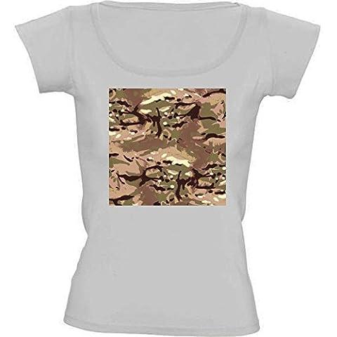 Camiseta Cuello Redondo para Mujer - Camo Camo, El Arte Por Tanto, Tú? by LesImagesdeJon
