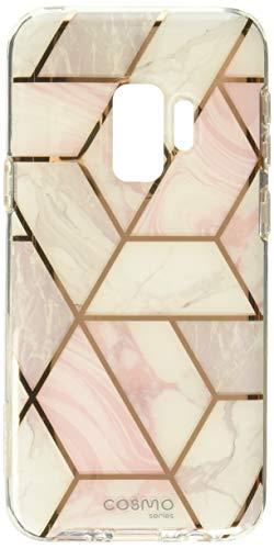 i-Blason Hülle Kompatibel für Samsung Galaxy S9 Glitzer 360 Grad Handyhülle Bumper Case Glänzend Schutzhülle Full Cover [Cosmo] mit integriertem Displayschutz, Marmor -