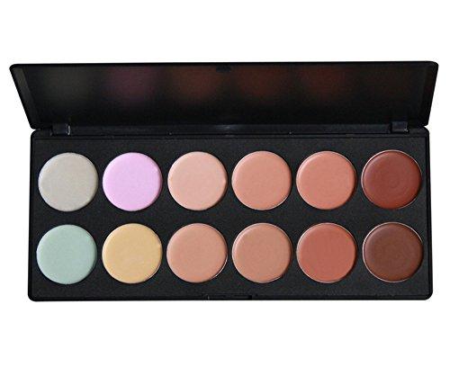 BrilliantDay 12 Couleurs Palette de Maquillage Correcteur Camouflage Crème Cosmétique Set