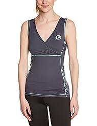 Ultrasport 10339 - Camiseta para mujer, color gris / verde menta, talla XL