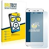 BROTECT AirGlass Protector Pantalla Cristal Flexible Transparente para Doogee F3 Pro Protector Cristal Vidrio - Extra-Duro, Ultra-Ligero, Ultra-Claro