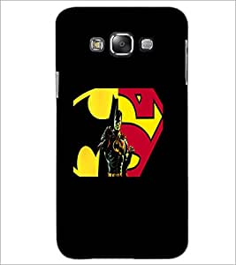 PrintDhaba Superman D-5563 Back Case Cover for SAMSUNG GALAXY A8 (Multi-Coloured)