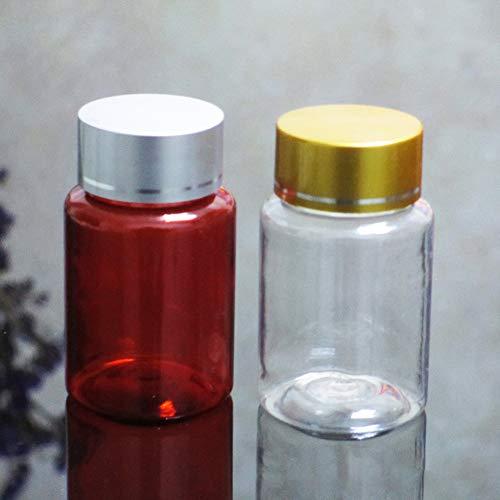 Livecity Tragbare Organizer-Vorratsflasche, 5 Stück 6 ml Leerdroge Pille chemische Flüssigkeit Vorratsflasche Mini Kunststoffbehälter Braun -