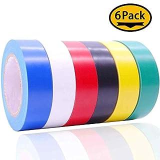 Maveek elektrisches Band 1,5cm, 15m, elektrisches Isolierband, 6er Pack, 6 Farben