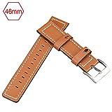 Watch Band Wristbands Smartwatch Trageschlaufe Lederband 42MM / 46MM Für Samsung Galaxy Watch
