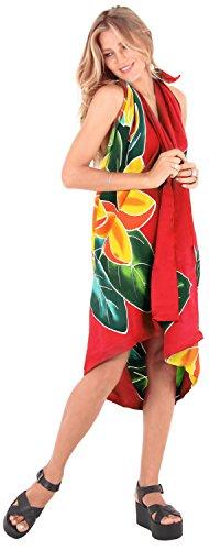Bade Bademode Verpackung Pareo Rock Vertuschung der Frauen Badebekleidung Sarong Pool Abnutzungs Wrap Badeanzug Zeitkleidung rot Senf