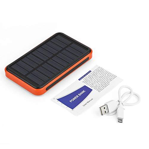 Universal Power Bank (Heaviesk Power Bank 8000mAh Universal Dual USB Ports Solarbetriebene Power Bank mit großer Kapazität für Ladegeräte)