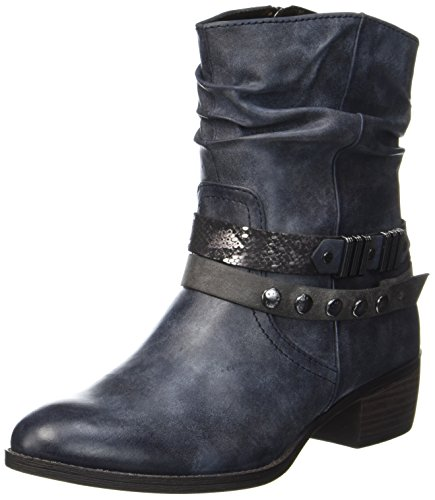 MARCO TOZZI Damen 25306 Biker Boots, Blau (Navy Antic Com), 38 EU