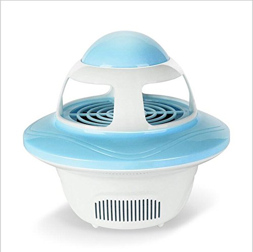 LINANA USB Mosquito Lampe LED Haushalts Moskito-Killer-Mutterschaft Baby Strahlung-Free Ultra-Quiet Moskito Lampe,Blue -