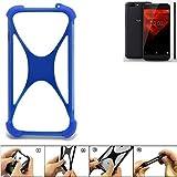 K-S-Trade Bumper NOA H10le Silikon Schutz Hülle Handyhülle Silikoncase Softcase Cover Case Stoßschutz, blau (1x)
