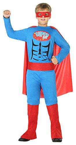 Kostüm Superboy Kinder - ATOSA 39428 Superboy boys 128