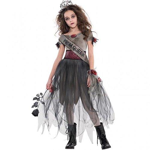 Mädchen Prombie Queen Zombie Kostüm (Zombie Prom Queen Kostüm Zubehör)