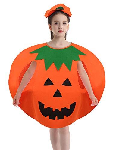 Agoky Unisex Halloween Kostüm Kürbis mit Blätter