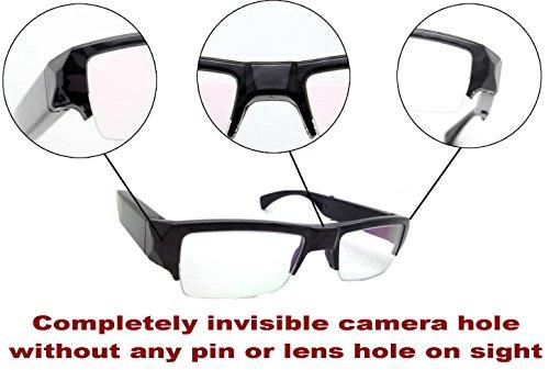 Glasses Hidden Camera NO PIN or LENS HOLE Spy Invisible DVR Video Cam FULL HD DV