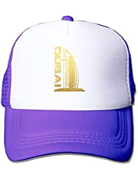 bowlife Adult Gold Burj al Arab Adjustable Mesh Hat Baseball cap 69b37f26f13d