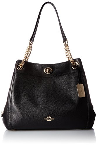 Coach, Borsa a spalla donna Light Gold/Black
