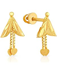 Malabar Gold and Diamonds 22KT Yellow Gold Drop Earrings for Women