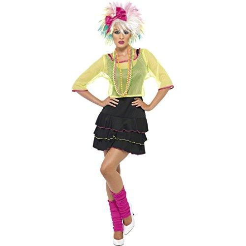 80er Jahre Kostüm Popstar Damenkostüm Mehrfarbig M 40/42 Achtziger Outfit Nena Kostüm Discokostüm (Achtziger Jahre Kostüme Für Erwachsene)