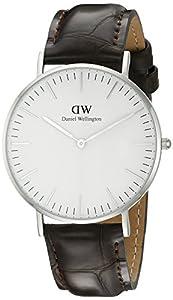 Daniel Wellington 0610DW - Reloj analógico para mujer, correa de cuero color marrón de Daniel Wellington