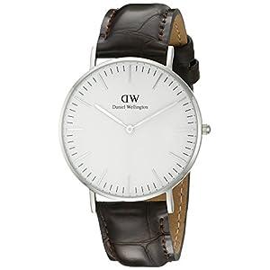 Daniel Wellington 0610DW – Reloj analógico para mujer, correa de cuero color marrón