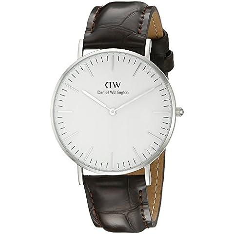 Daniel Wellington 0610DW  - Reloj analógico para mujer, correa de cuero color marrón