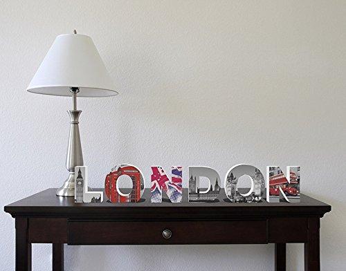 Klebefieber Dekobuchstaben London up to Date B x H: 70cm x 11cm